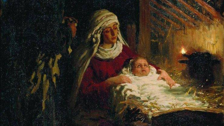 Илья Репин.  Рождество Христово. 1890.