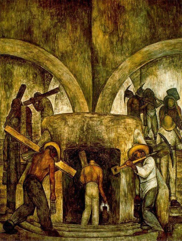 Диего Ривера. Вход в шахту. 1923
