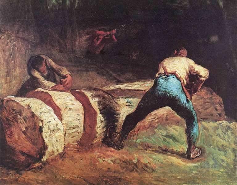 Жан-Франсуа Милле. Лесорубы.  1850–1852