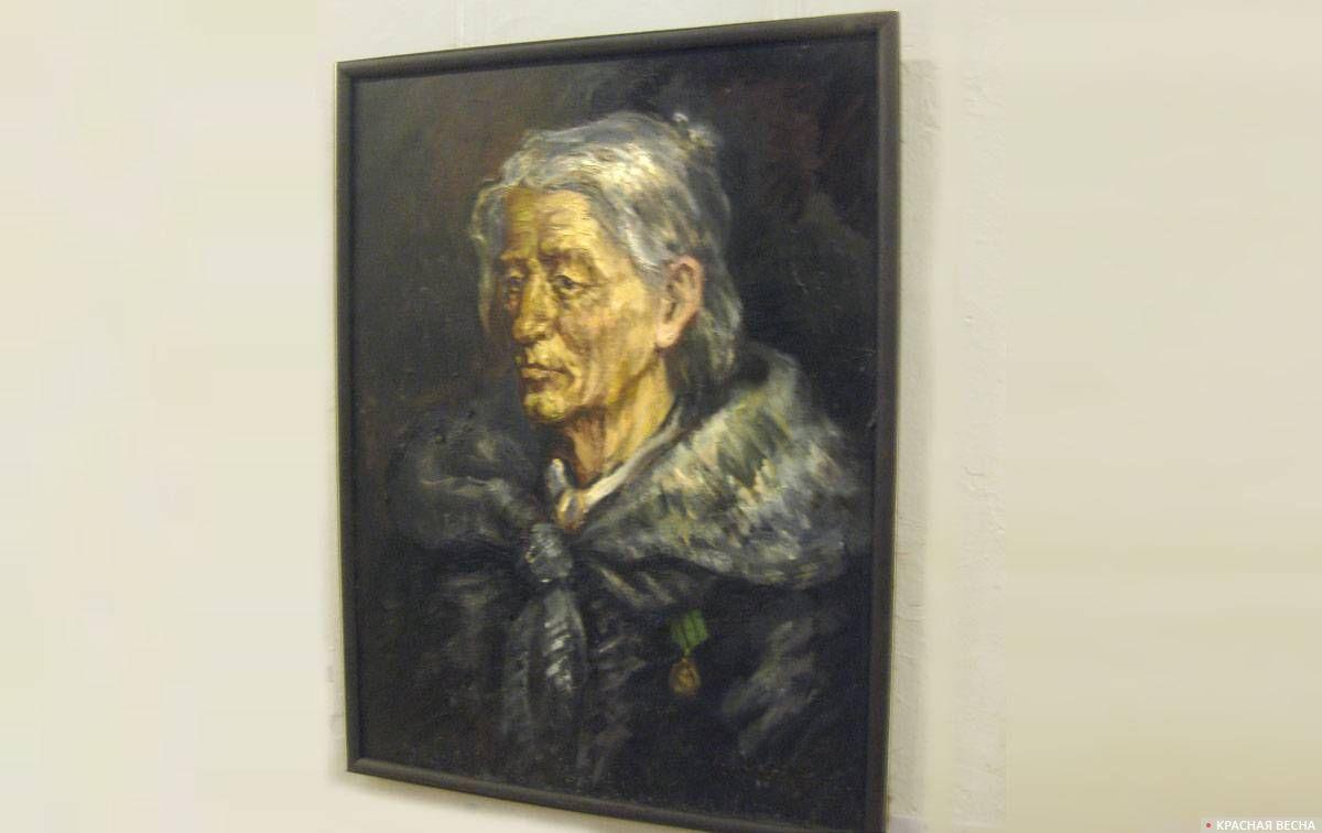 Портрет блокадницы Воронцовой Прасковьи. 1988. Х., м. Васильев Вячеслав Николаевич, 1951