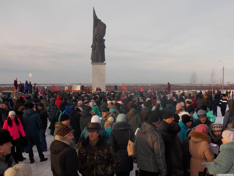 Митинг протеста в г. Котлас 2 декабря 2018 года