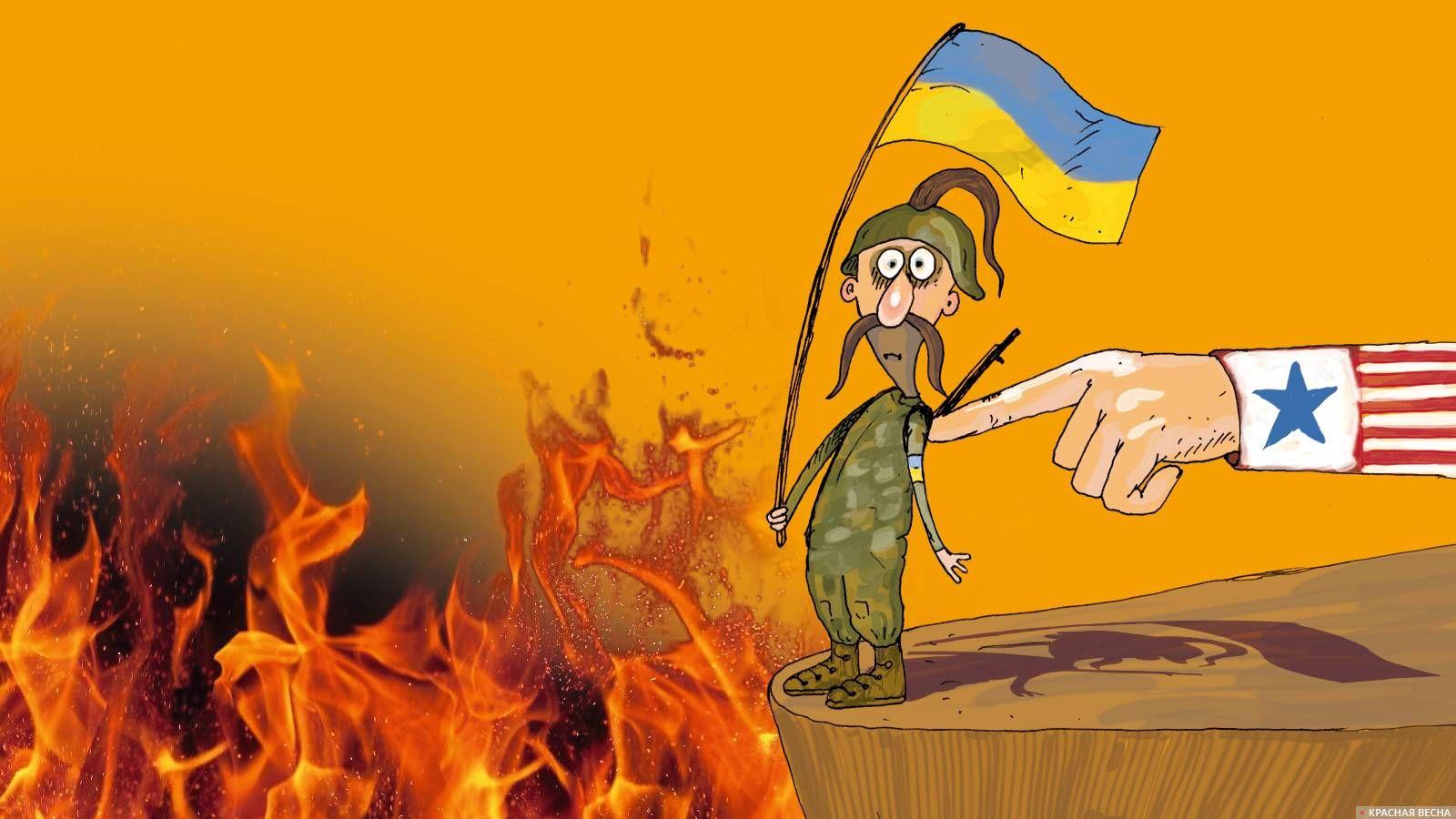 Украинский солдат. Карикатура