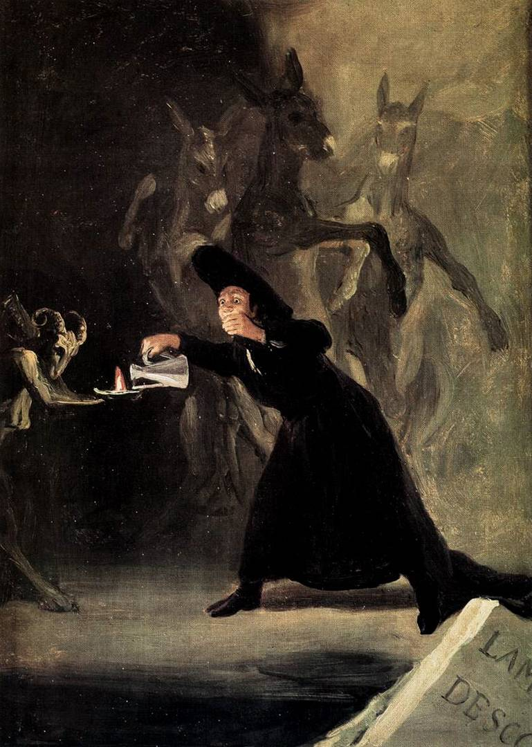 Франсиско де Гойя. Лампа дьявола. 1798