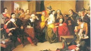 Томпкинс Маттесон. Испытание ведьмы. 1853