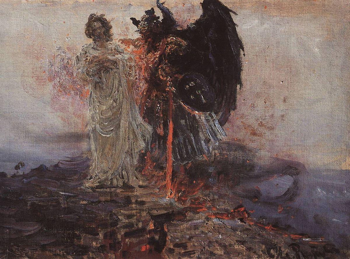 Илья Ефимович Репин. Иди за мною, Сатано. 1895