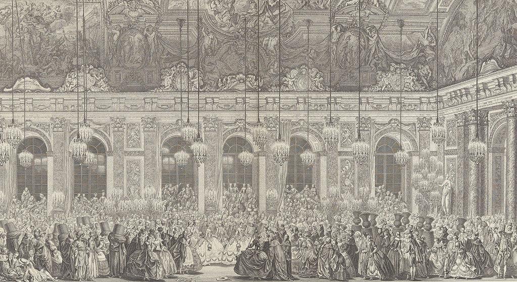 Декорации для костюмированного бала в Версале по случаю свадьбы старшего сына Людовика XV в 1745 году. Около 1860 г., с печатных форм 1764 года
