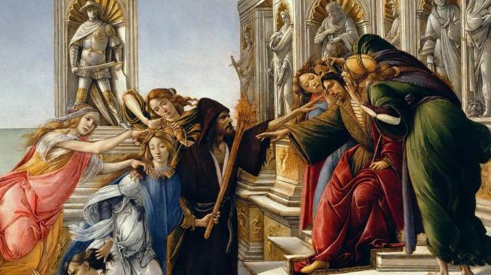 Сандро Боттичелли. Клевета (фрагмент). 1497