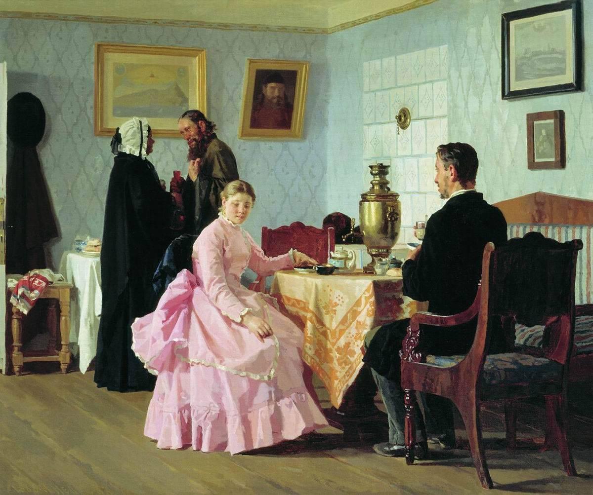 Николай Неврев. Смотрины. 1888