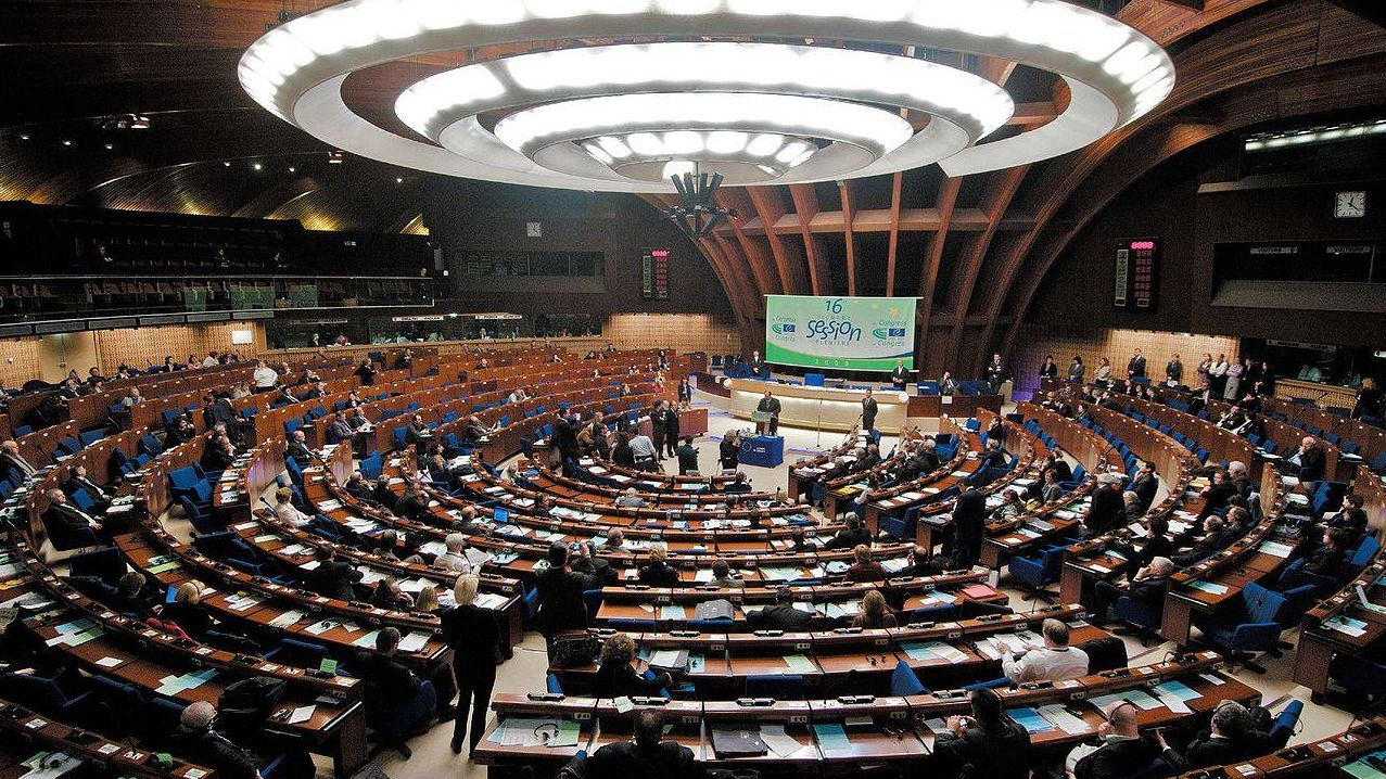 Plenary chamber of the Council of Europe's Palace of Europe