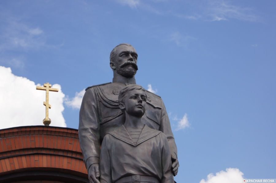 Открытие памятника Николаю II в Новосибирске