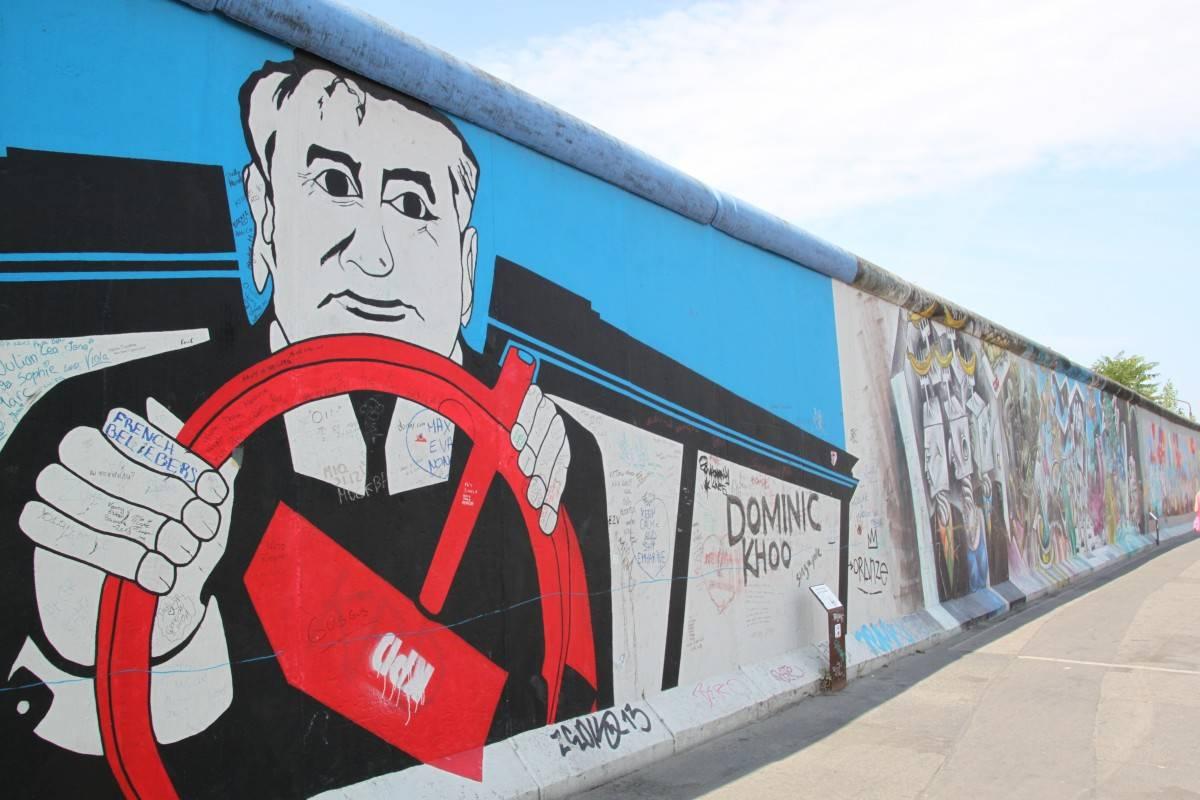 Графити с Горбачёвым. Берлин