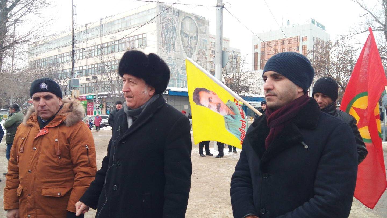 Член Правления местного реготделения Союза журналистов России Александр Зуев и руководитель курдской автономии Якуб Хамидов.