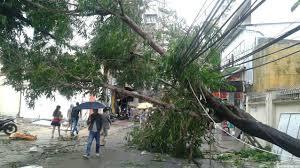 Последствия тайфуна во Вьетнаме.  Нячанг