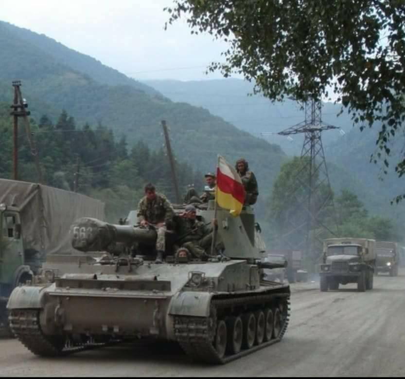 Югоосетинское самоходное орудие САУ-152. Август 2008 г.