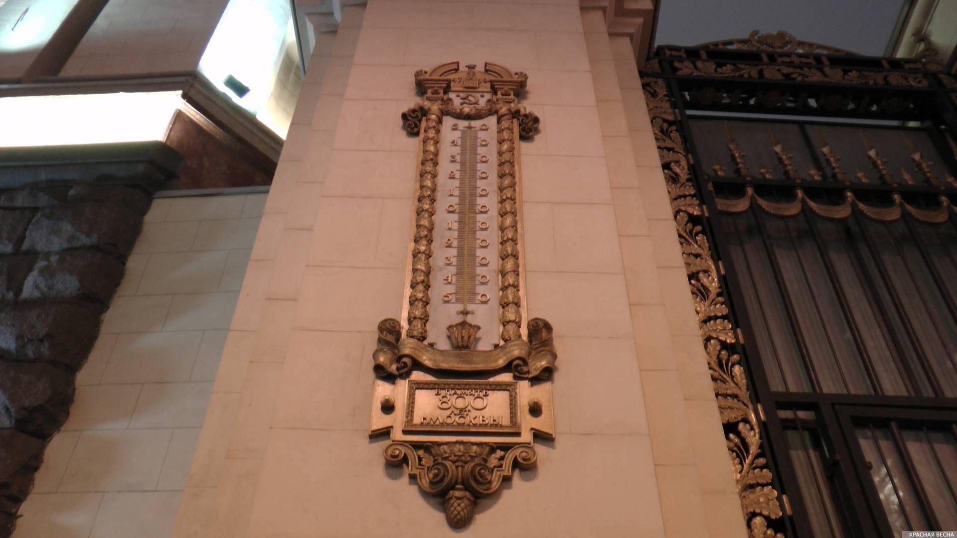 Термометр (градусник). Москва. 2018