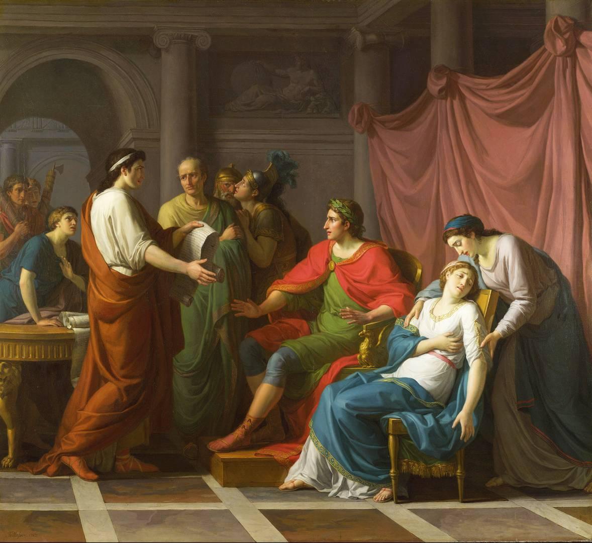 Жан-Жозеф Тайлассон. Вергилий читает Энеиду Августу и Октавии. 1787