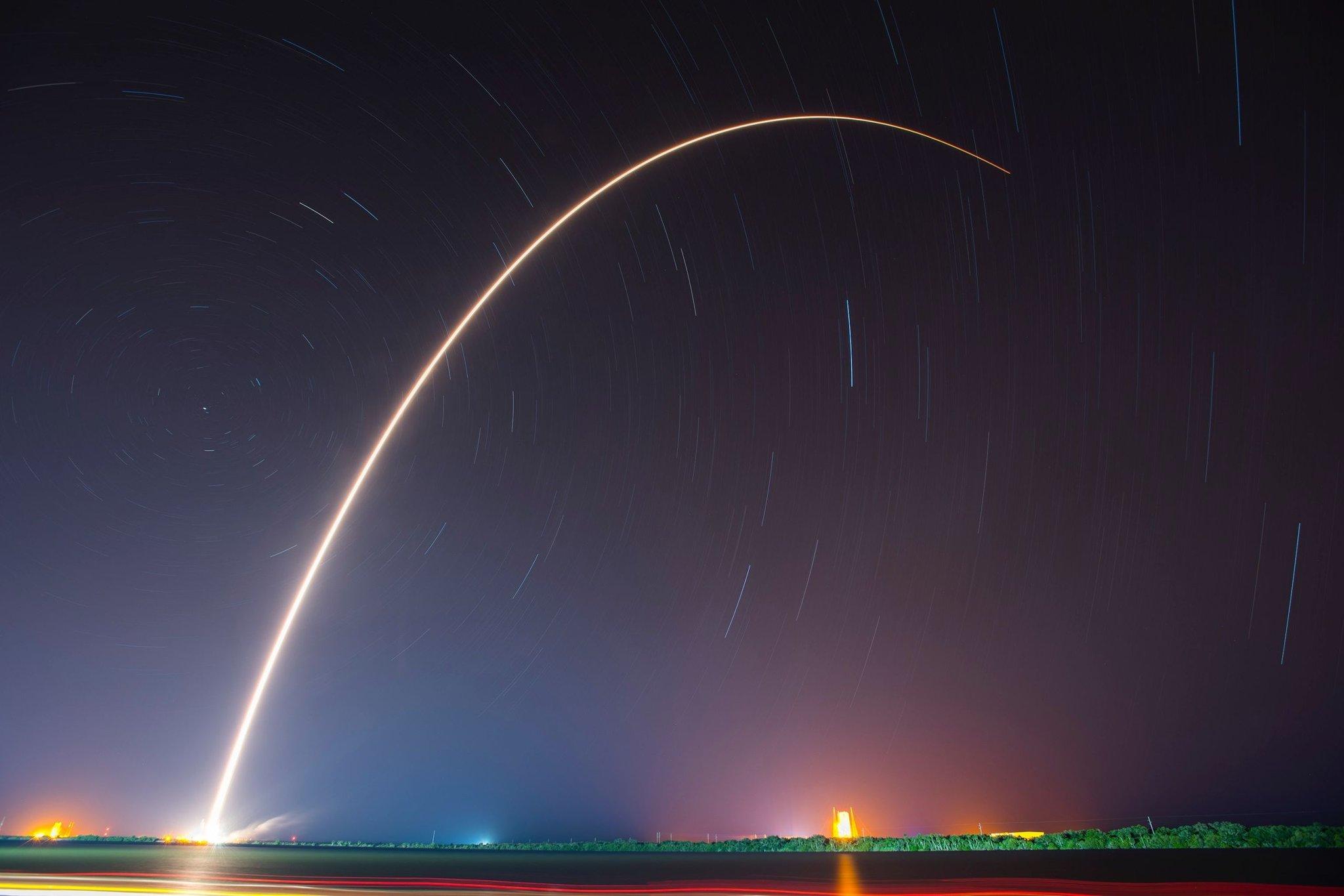След от ракеты