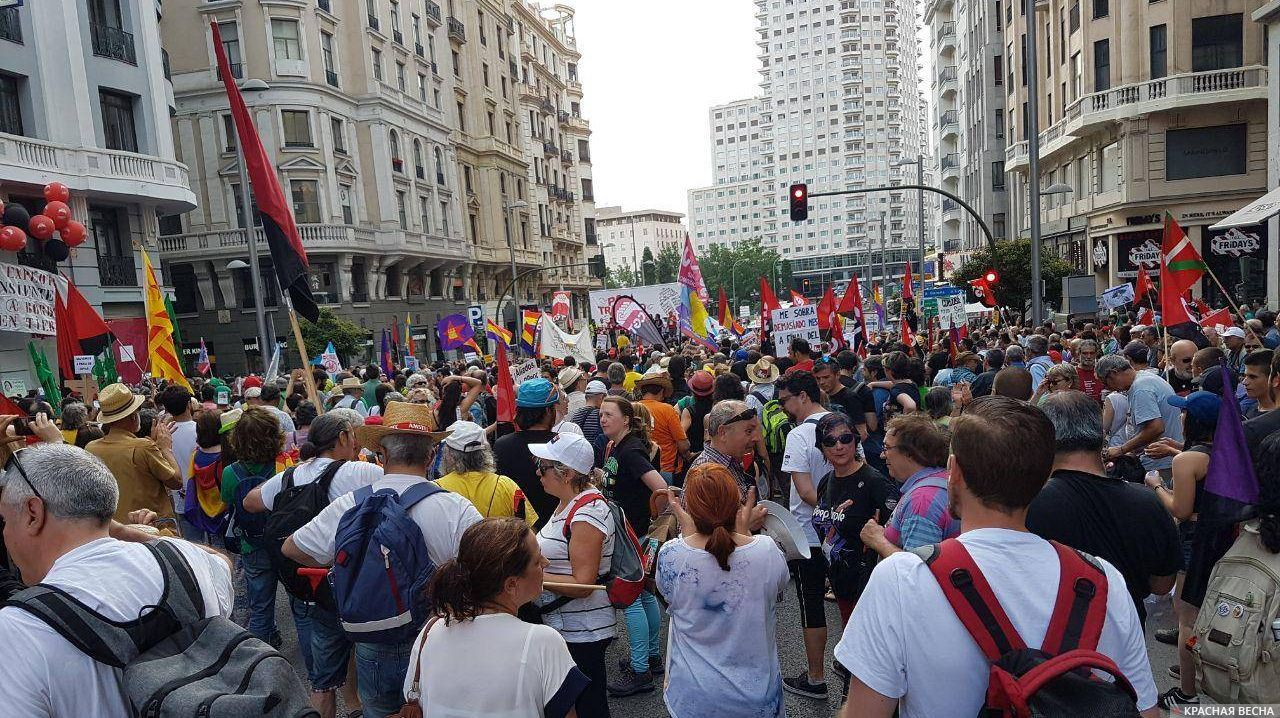Мадрид протестует