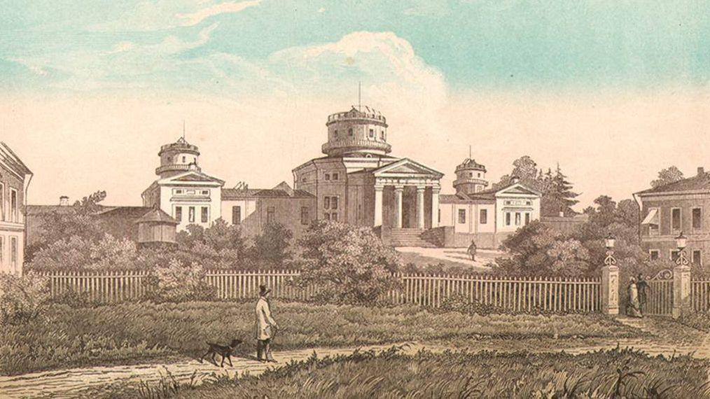 Е. Бернардский. Пулковская обсерватория. 1855