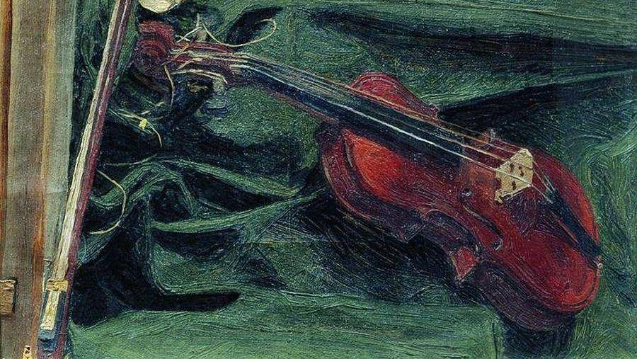 Иван Куликов. Натюрморт со скрипкой. 1890