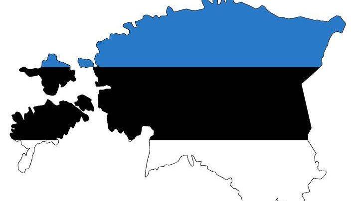 Эстония, карта.