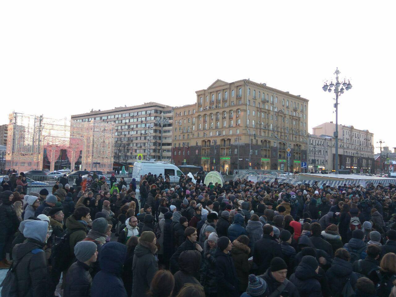 Москва. Метро Пушкинская. 27 марта.