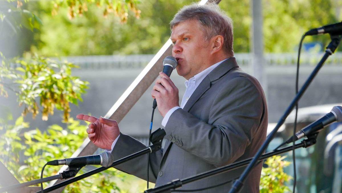 Сергей Митрохин, Яблоко. Митинг за права москвичей в Москве 27.05.2017