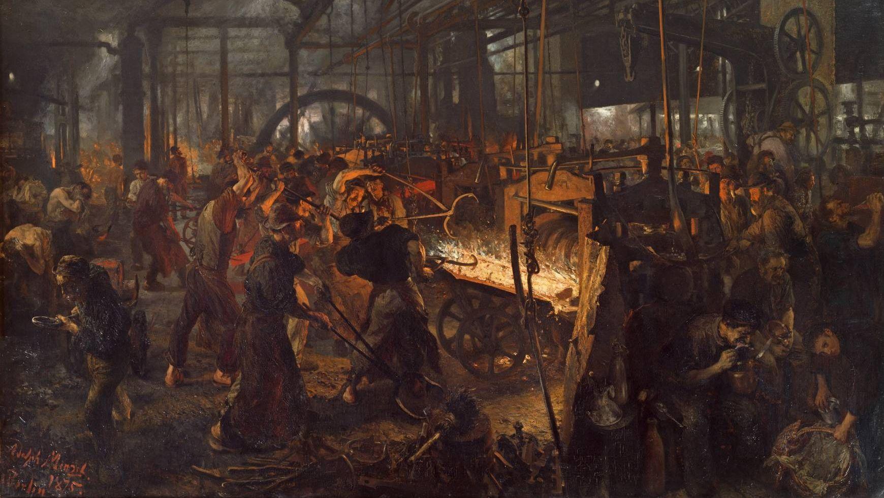 Адольф фон Менцель. Железопрокатный завод. 1875