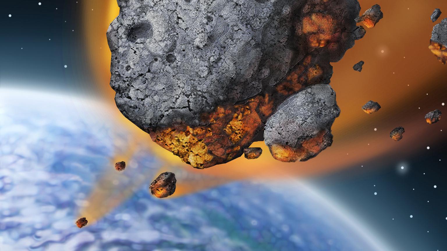 доска картинка астероид врезается в землю последние годы