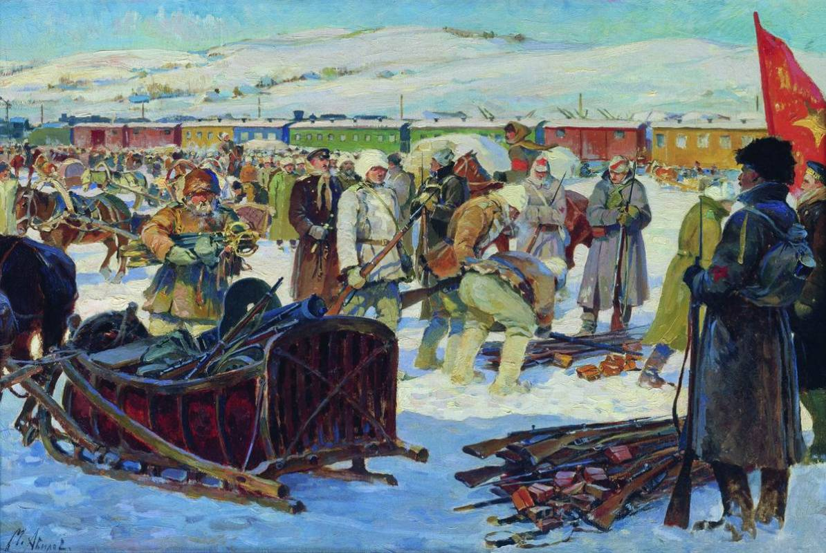 Разоружение частей Колчаковской армии