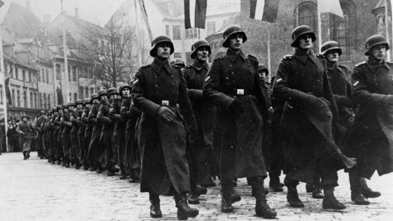 Латышский добровольческий легион Ваффен СС. Рига. 8 ноября 1943