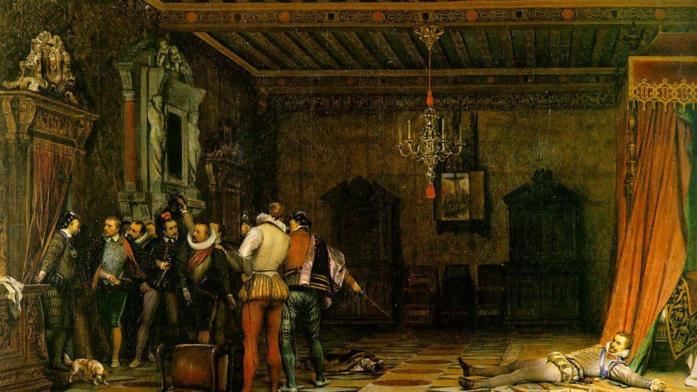 Поль Деларош. Убийство Генриха I, герцога де Гиза. 1834