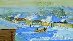 Станислав Жуковский. Зима. 1915 г. Фрагмент