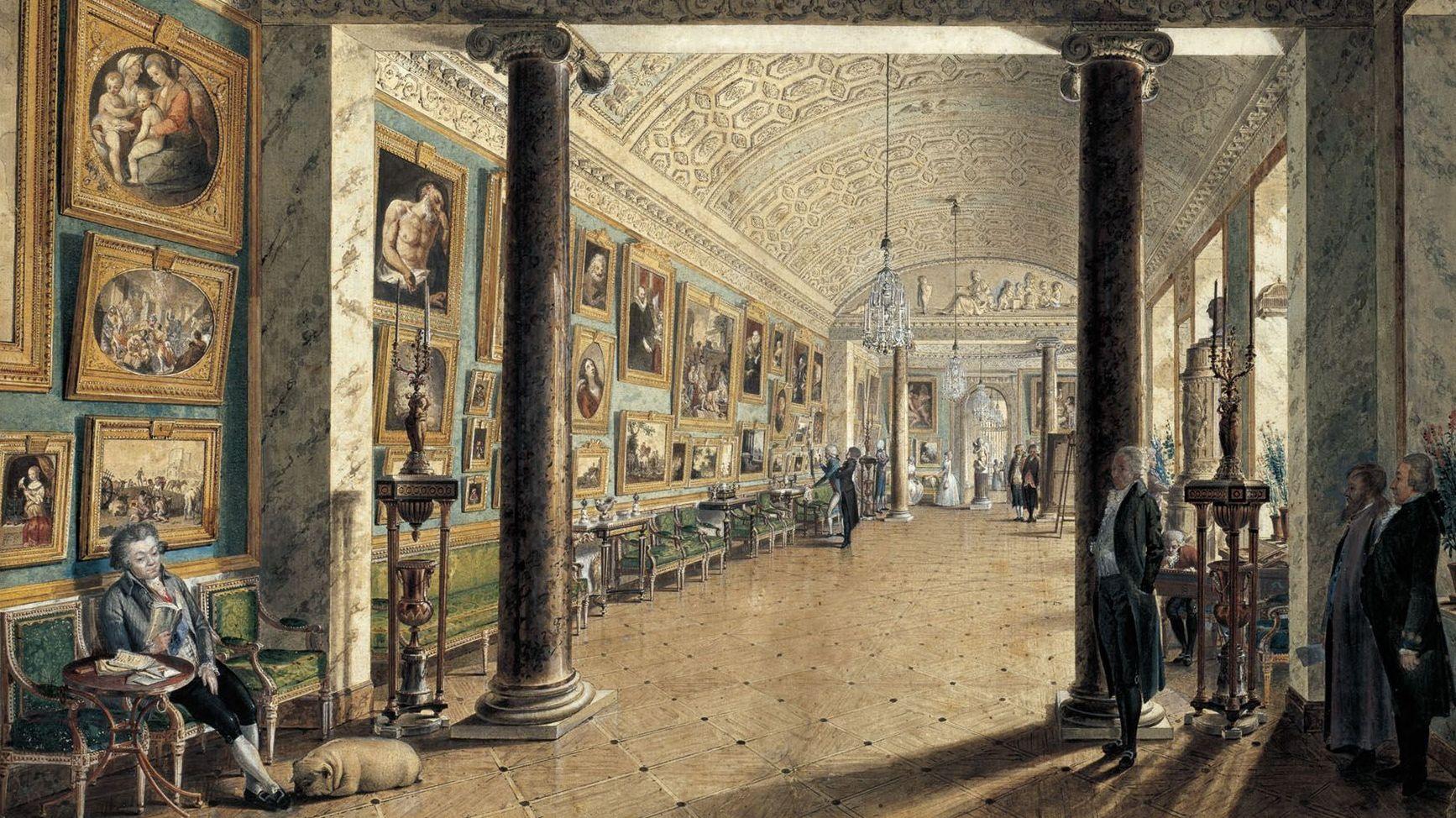 Воробьев Максим. Картинная галерея графа А.С. Строганова. 1794