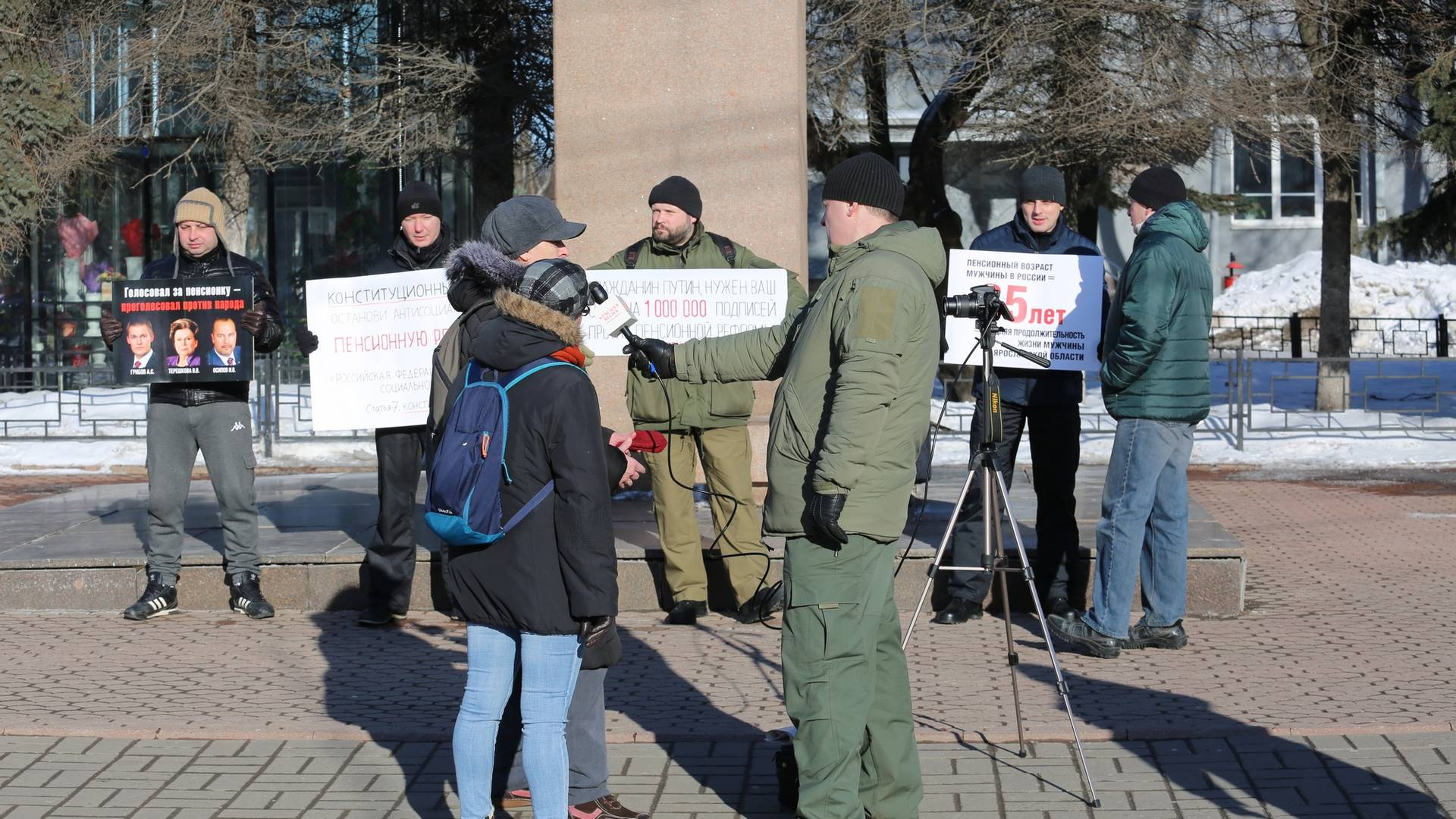 Пикет и общение с жителями города в Ярославле