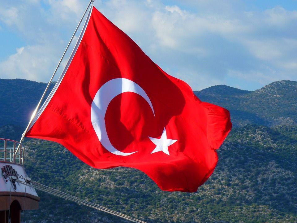 Турецкий флаг,автор: LoggaWiggler, лицензия: CC0 1.0