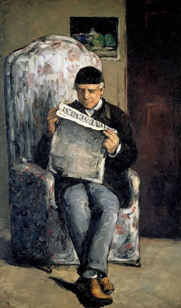 Поль Сезанн. Папа читает L'Evénement. 1866