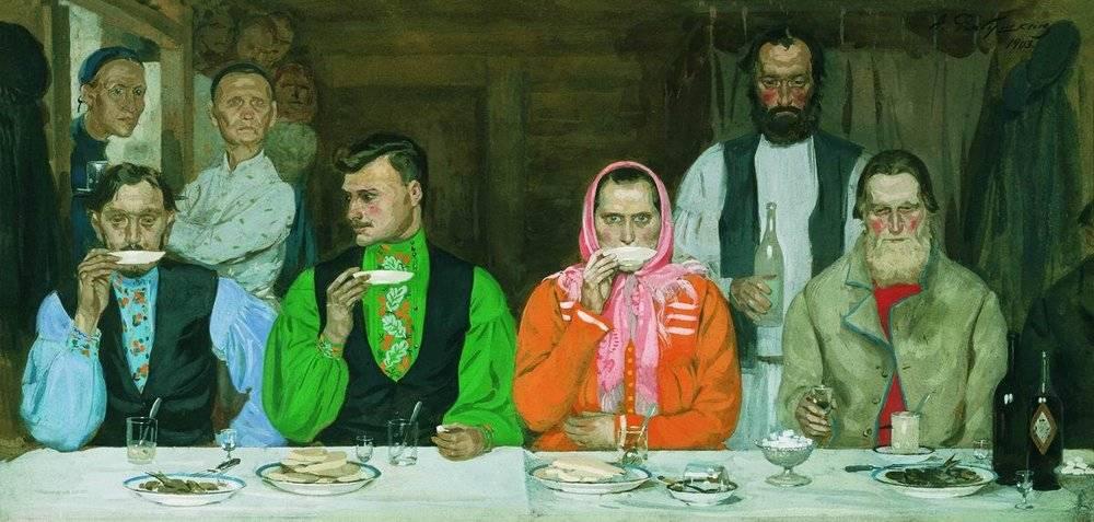 Андрей Рябушкин. Чаепитие. 1903