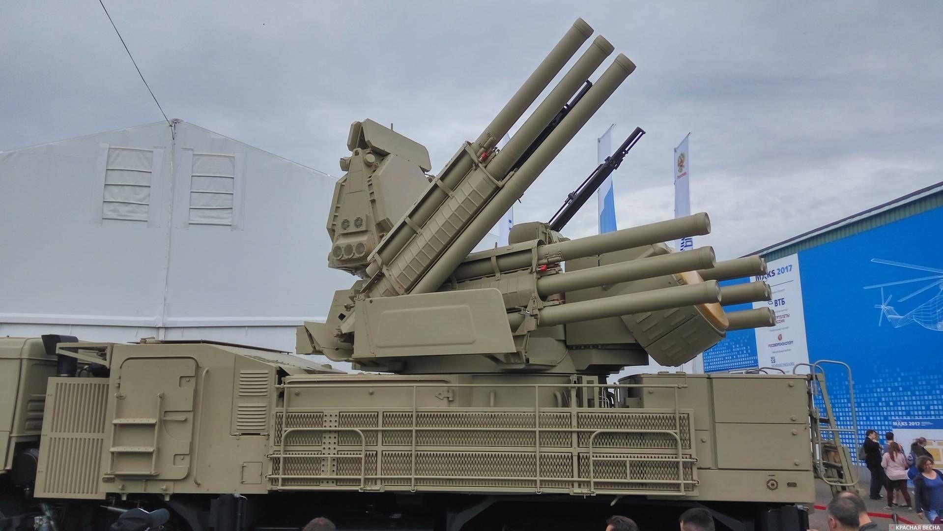 МАКС 2017 Зенитный ракетно-пушечный комплекс Панцирь-С1