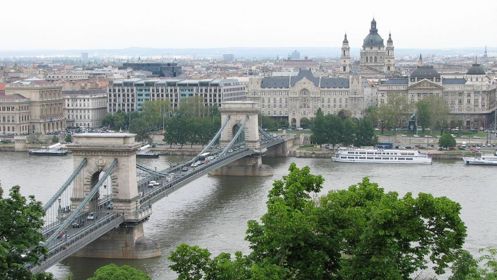 Мост Сечени через Дунай