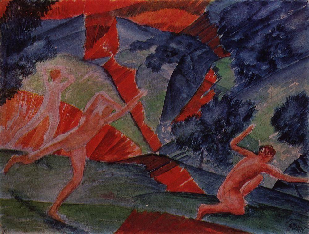14 Кузьма Петров-Водкин. Ураган. 1914