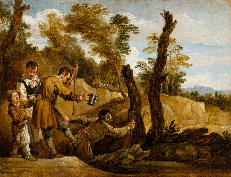 Давид Тенирс Младший. Слепой ведет незрячего. 1655