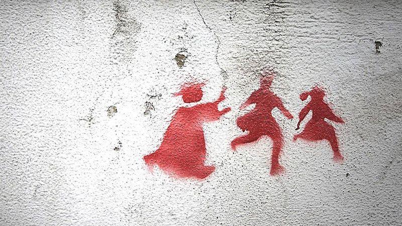 Кардинал и дети. Граффити, Лиссабон