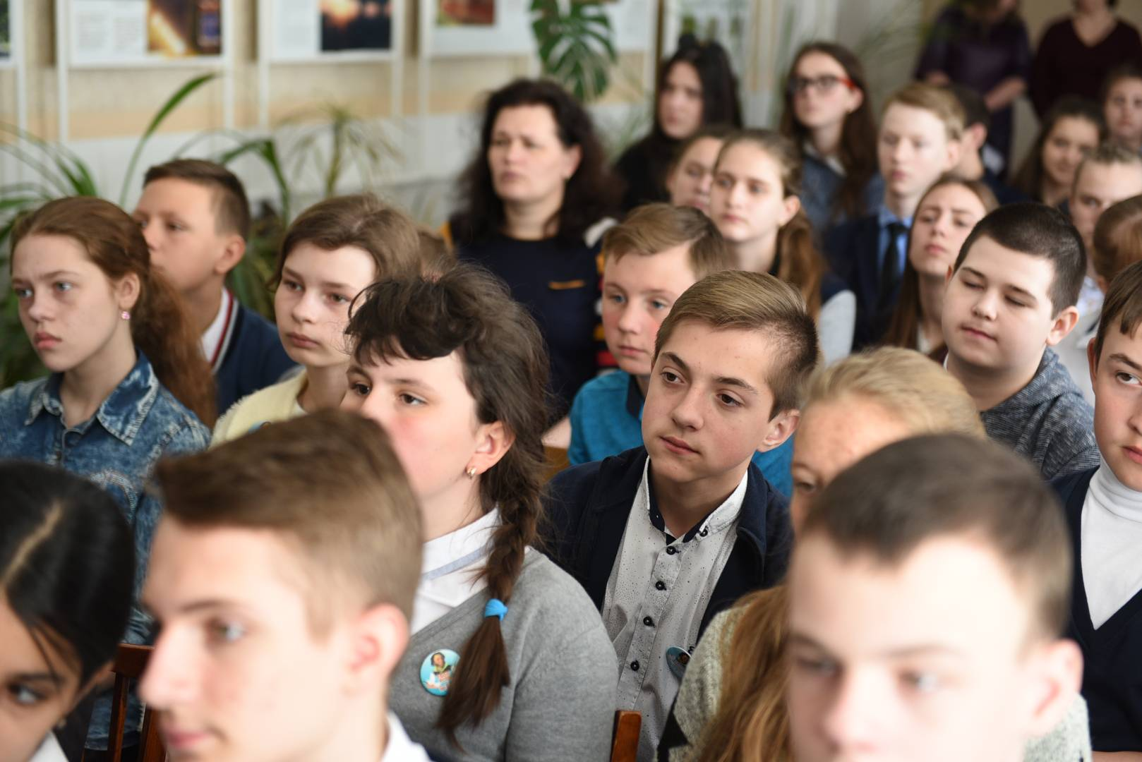 Учащиеся школ Красного Луча