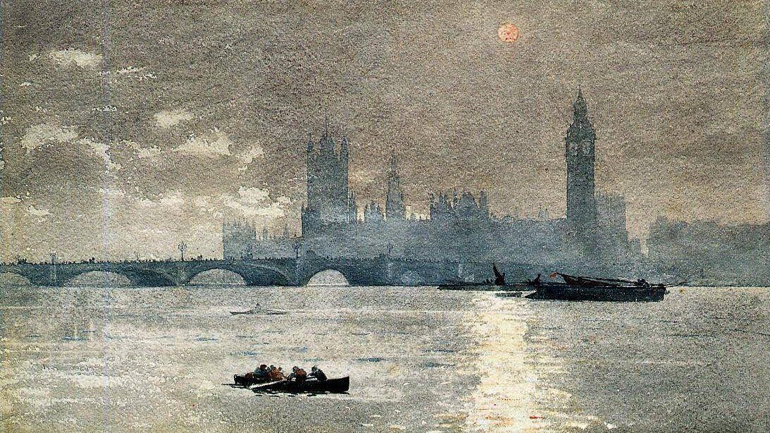 Уинслоу Хомер. Здание парламента. Фрагмент. 1881