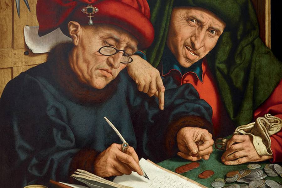 Квентин Массейс. Сборщики податей (фрагмент). После 1501