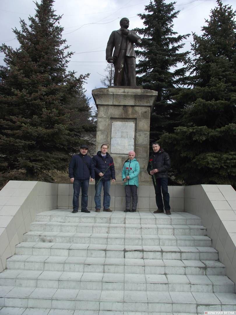 Памятник Ленину в Ильменском заповеднике г. Миасс Челябинская область.