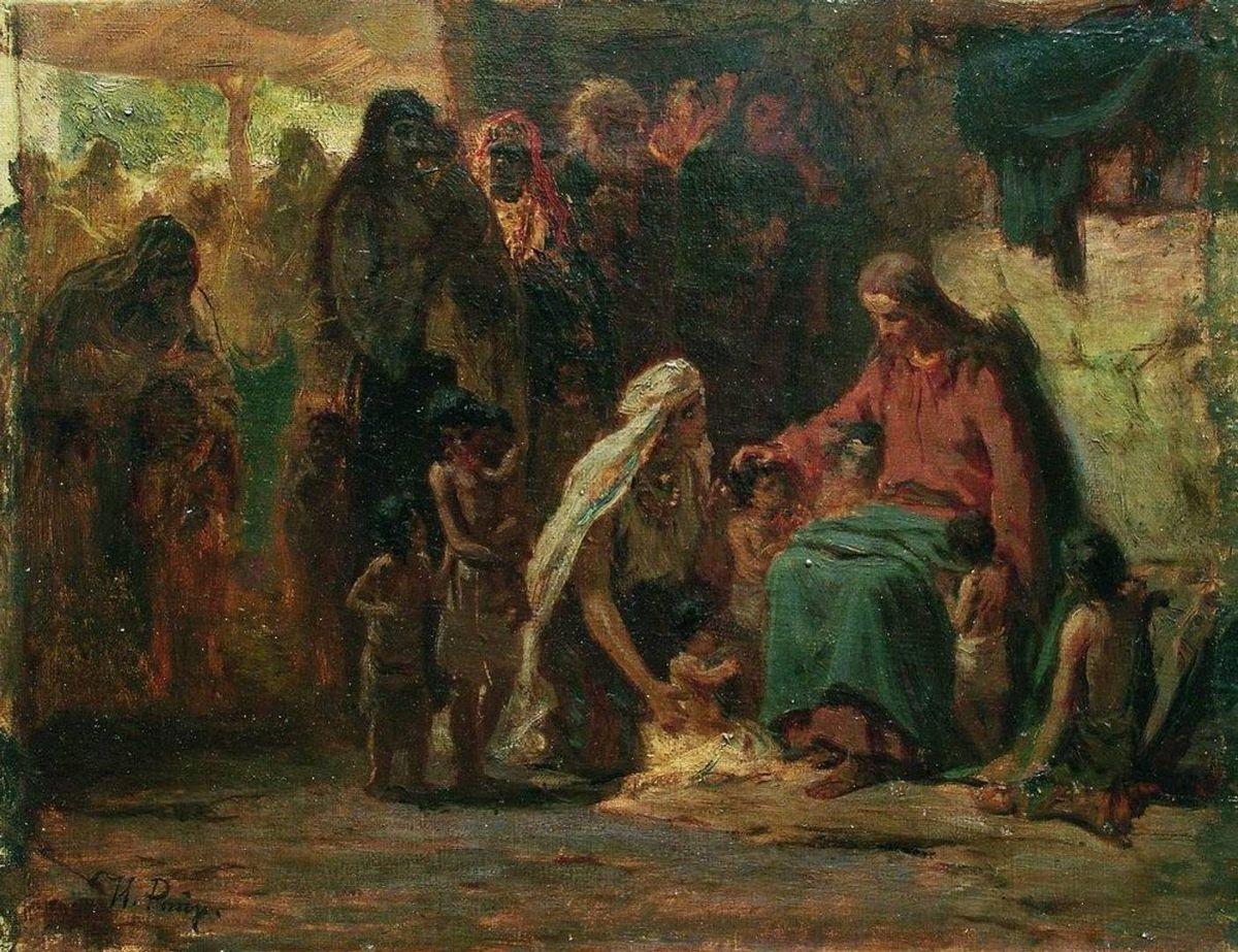 И. Е. Репин. Благословение детей (на евангельский сюжет). 1890-е