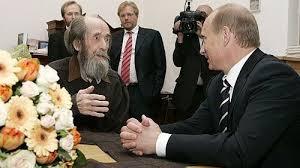 Владимир Путин и Александр Солженицын