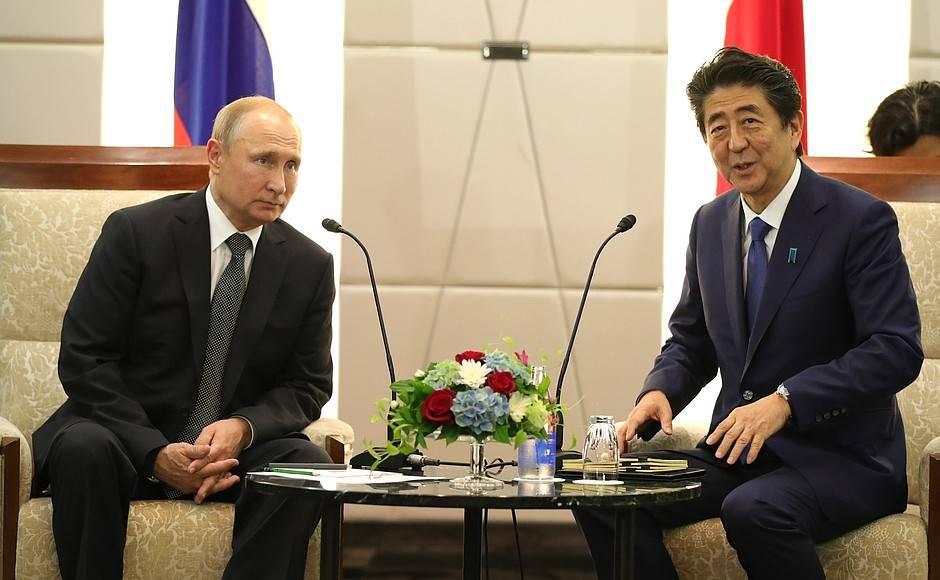 Владимир Путин с премьер-министром Японии Синдзо Абэ